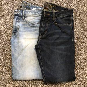 2 Men's American Eagle Jeans 31x32